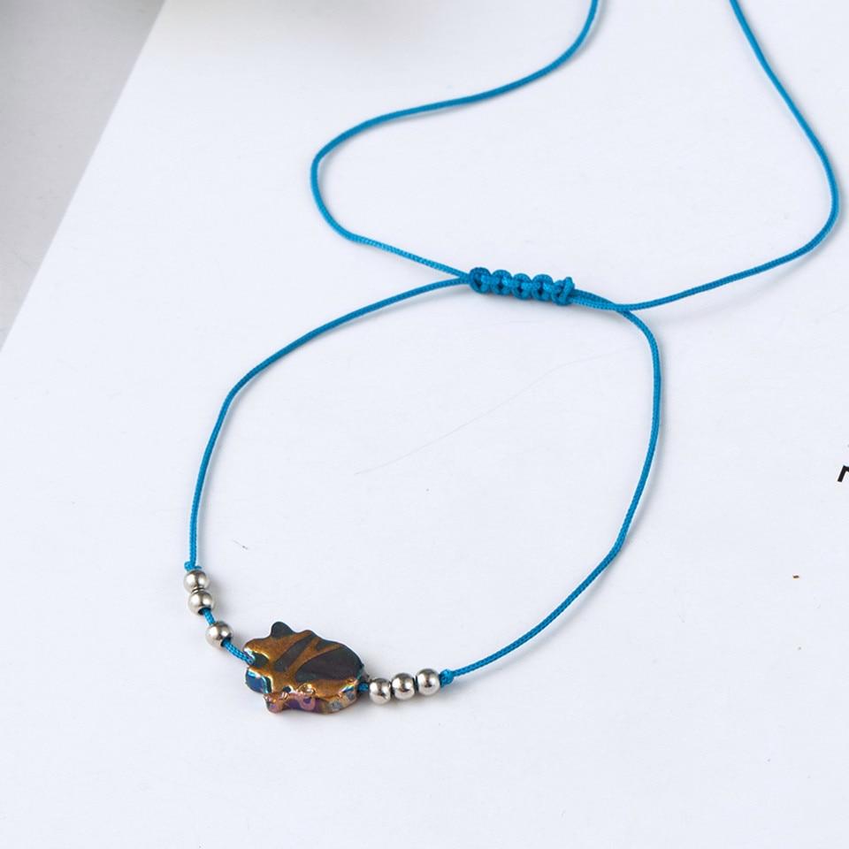 Boho Ankle Bracelet Bohemian Colorful Heart Beads Jesus Cross Turtle Butterfly Infinity Triangle Anklet Women's Leg Bracelet (45)