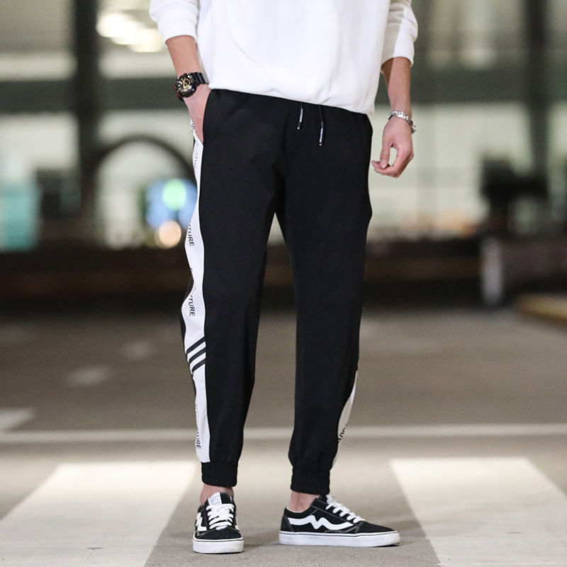 2019 New Style Summer MEN'S Casual Pants Trend Loose-Fit Athletic Pants Male STUDENT'S Harem Ankle Banded Pants Workwear Pants