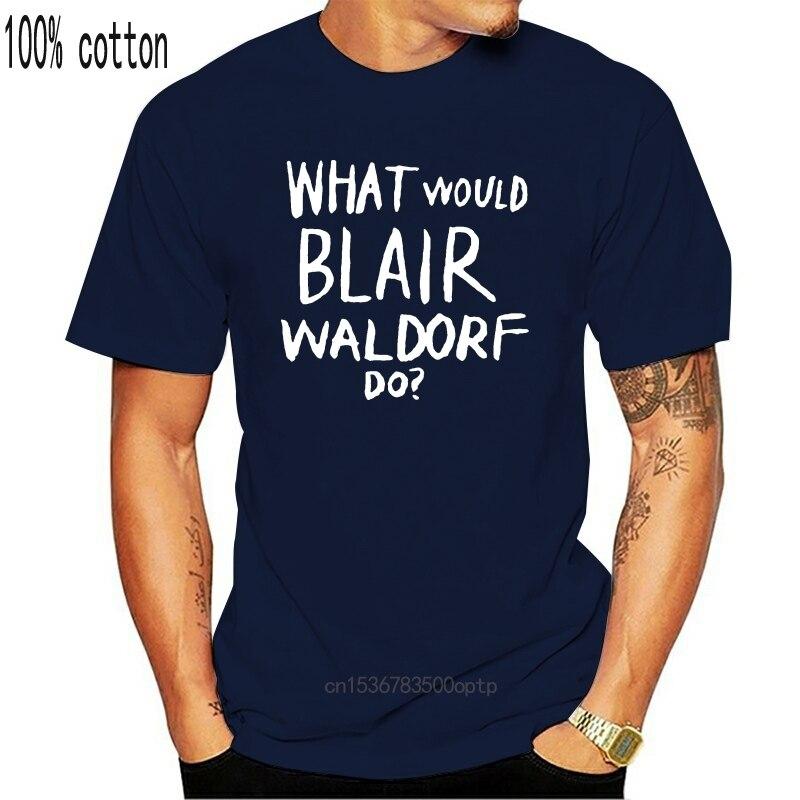 O que blair waldorf faria? Impressão feminina camiseta de algodão casual engraçado t camisa para senhora topo camiseta hipster tumblr femme tshirt|Camisetas|   -