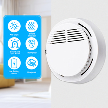 Fire Alarm Sensor Independent 85 dB Smoke Detector Smoke Fire Detector Tester Home Security System for Kitchen Cafe