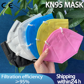 Hot! 5-50 Pcs FFp2 Face KN95 mask Facial Masks Filter Breathing valve Mouth Anti Dust Mask Protective Masque FFP2 Mask Fpp3