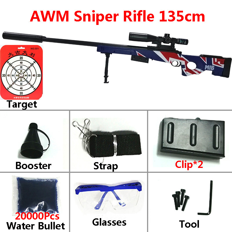 Image 3 - Toy Gun Sniper Rifle Kar98K AWM M24 Mini Airsoft Air Guns Safety Sight Water Bullet Shooting Boys Outdoor Toys Arms Weapon Gift-in Toy Guns from Toys & Hobbies