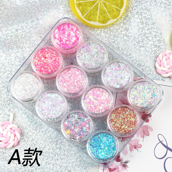 Makup Cosmetic Party Loose Glitter Gel Glue Free 12pcs/Lot Mermaid Shimmer Sequins Powder For Face Body Eyes 1