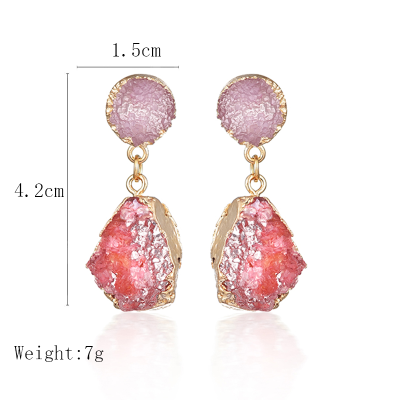 New Exquisite Korean Statement Drop Earrings 2019 for Women Fashion Vintage Geometric Acrylic Dangle Hanging Earring Jewelry