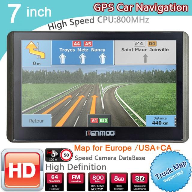 Navegación portátil GPS HD de 7 pulgadas, mapas 2020 para Europa, Rusia, camión, CAMPING, caravana, navegador Sat Nav, actualizaciones gratis de por vida