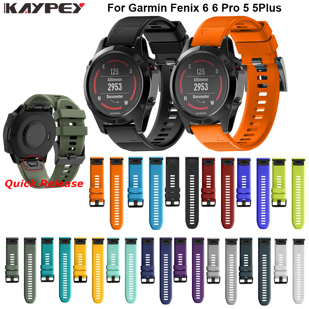 Watchband Strap For Garmin Fenix 5 5X Plus 3 3HR Fenix 6X 6 6S Watch Strap Quick Release Silicone Band For Forerunner 935 Band