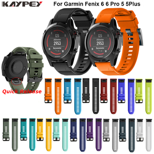 Image 1 - Watchband Strap for Garmin Fenix 5 5X Plus 3 3HR Fenix 6X 6 6S Watch Strap Quick Release Silicone Band For Forerunner 935 Band