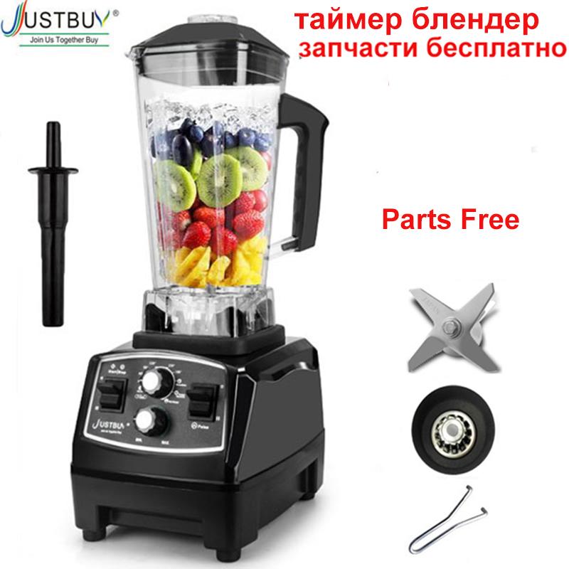 6300 Timer Blender 3HP 2200W Heavy Duty Commercial Grade Blender Mixer Juicer Fruit Food Processor Ice Smoothies BPA Free 2L Jar