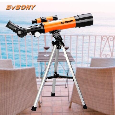 svbony maxusee criancas telescopio 40400 mm com tripe finder escopo telescopio portatil para criancas e