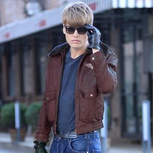 Image 3 - Ücretsiz kargo. marka yeni kış sıcak. klasik G1 stil erkek deri ceket, vintage inek derisi ceketler, erkek hakiki deri ceket.