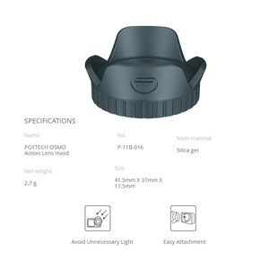 Image 2 - PGYTECH Camera Sunshade Protective Cover Cap PGYTECH Lens Hood Compatible With DJI Osmo Action Gimbal Camera Accessories