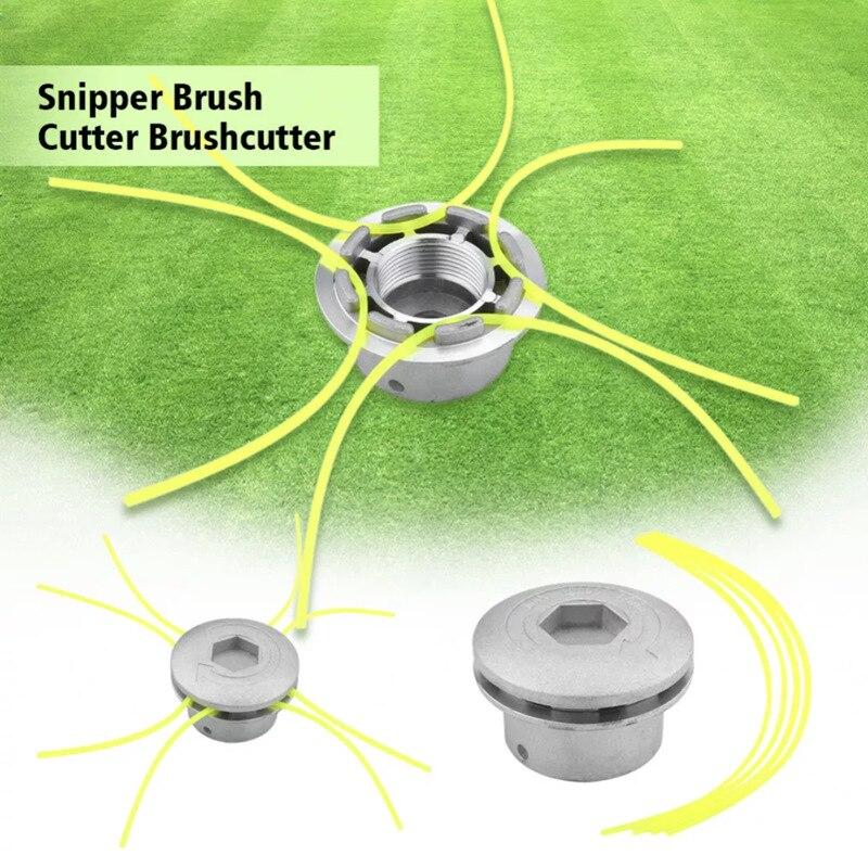 Universal Trimmer Head Aluminium Strimmer Head Trimmer Heads Grass Brush Cutter Lawn Mower Accessory With Trimmer Line