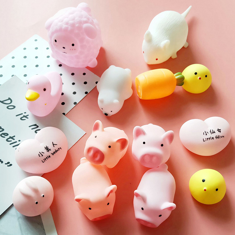 Mochi Toys With Sound,Animal Fruit Stress Relief Toys,Kids Squeeze Toys Adult Toys Child Gift