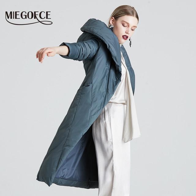 MIEGOFCE 2019 Winter Long Model Women's Jacket Coat Warm Fashion Women Parkas High-Quality Bio-Down Women Coat Brand New Design 1