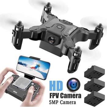 Mini Drone Quadcopter With/Without Camera HD Hight Hold Mode RTF WiFi Folding Aerial RC Helicopter Kit on the remote