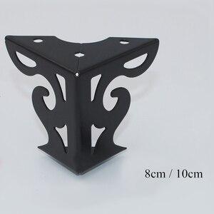 Image 2 - 4 قطعة أثاث معدني الأجهزة الساقين جوفاء أريكة القدم نمط أسود للتلفزيون خزانة الساقين دعم الأثاث واقيات زوايا معدنية