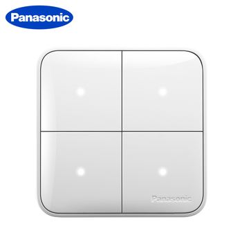 Panasonic 1 Gang 2 Gang 3 Gang 4 Gang Wall Switch 1 Way 2 Way Light Switch Random Click On / Off Home Switch with LED Indicator chint new2k illuminated switch wall switch socket light champagne gold four gang two way