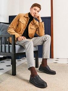 Image 2 - Zapatos para hombre de piel auténtica CAMEL, mocasines cómodos de alta calidad, calzado Formal de negocios para hombre, mocasines masculinos 47