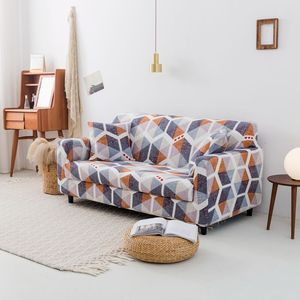 Image 3 - Elastic Sofa Cover for Living Room Spandex Armchair Cover  Magic Printed Flower Couch Cover  1/2/3/4 Seater 4 Size Available