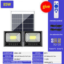 Светодиодный настенный светильник с дистанционным управлением, водонепроницаемый уличный фонарь на солнечной батарее, с пассивным ИК датч...