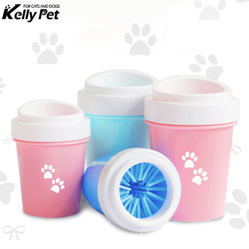 Dog Paw Cleaner Cat Pet Foot Washer Cup Soft Brush Cleaning Dirty Feet supplies