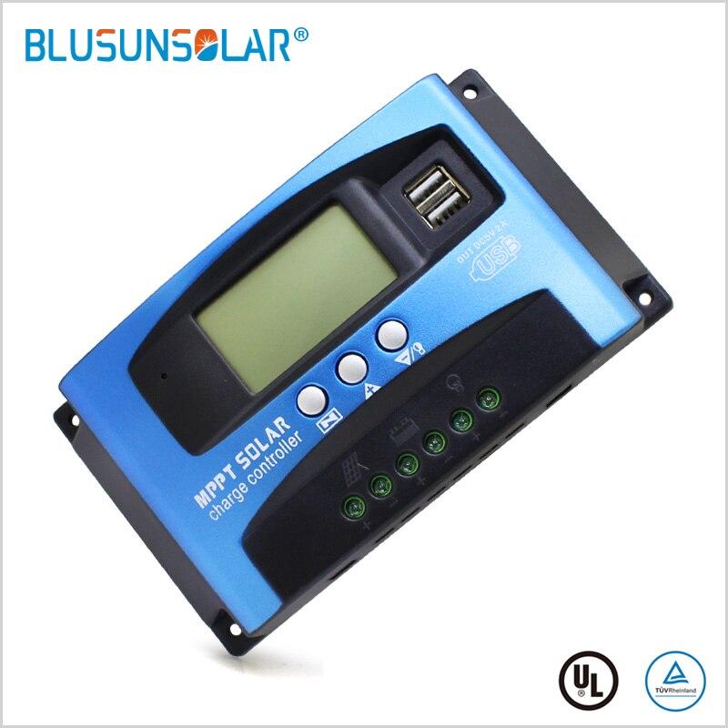 1 stücke Solar Ladegerät Controller MPPT 100A 60A 30A 12V 24V Battey Ladegerät LCD Dual USB Solar Panel regelmäßige für max 50A PV eingang