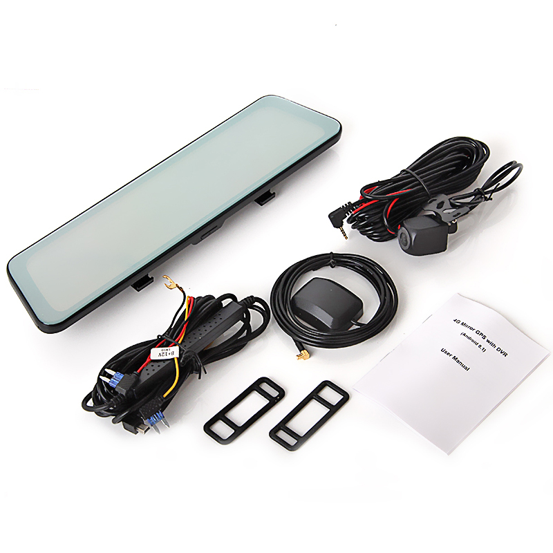 "Купить с кэшбэком Bluavido 12"" Car Rearview mirror Camera 4G Android 8.1 dashcam 2G RAM 32G ROM GPS Navigation ADAS AUTO video recorder WiFi DVR"