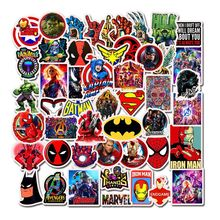 50pcs Super Hero Graffiti Stickers Cartoon Marvel For Luggage Laptop Motorcycle Bicycle Cool Doodle JDM Sticker