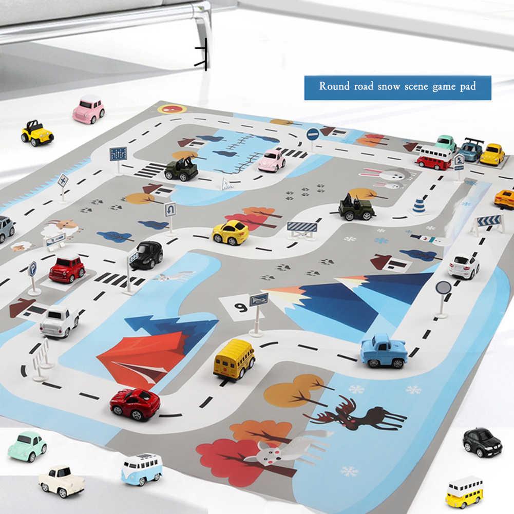 子供プレイマット市道建物駐車マップゲームシーン地図知育玩具ジュエベビーフロアベビー泡マットじゅうたん jeu ベベ