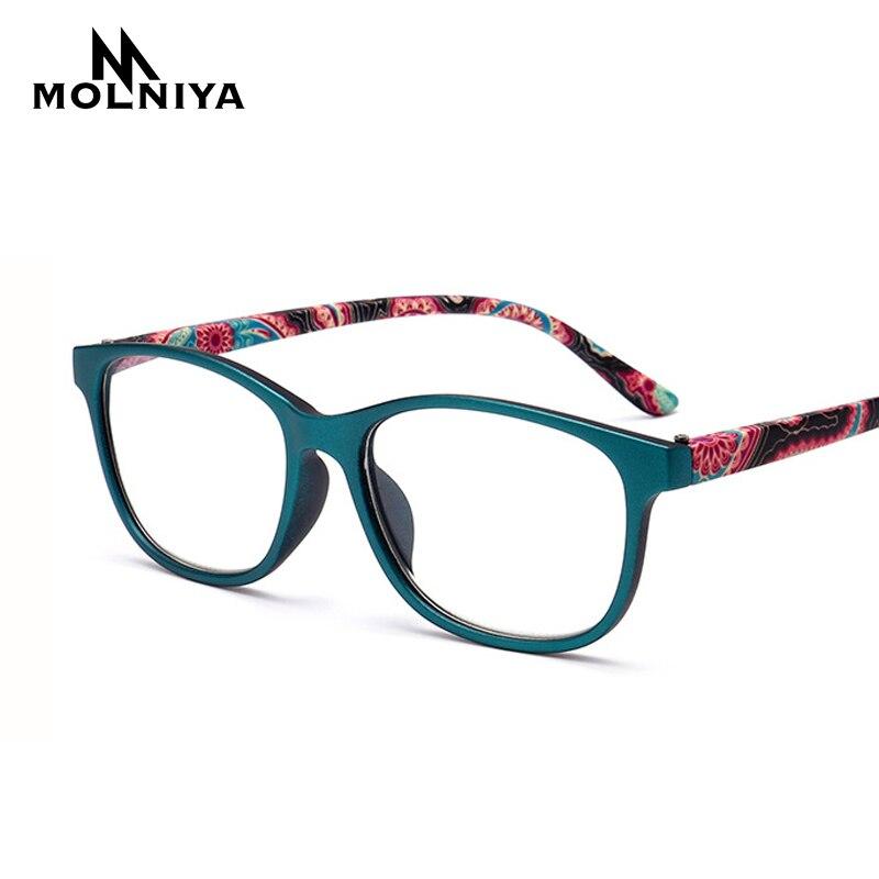 Мужские и женские квадратные очки для чтения MOLNIYA, очки для дальнозоркости + 1 1,5 2,0 2,5 3,0 3,5 4,0