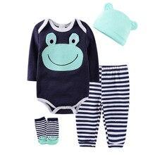 Socks Pants Romper Toddler Baby-Boys-Girls Winter Cartoon Cat Cute 4pcs Cotton Frog Ears-Hat