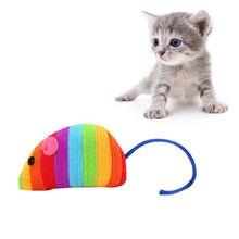 Jouet en tissu en forme De souris Pour chat, couleur arc-en-ciel, interactif, Produits Pour Animaux De Compagnie, # BL3, nouveauté 2021