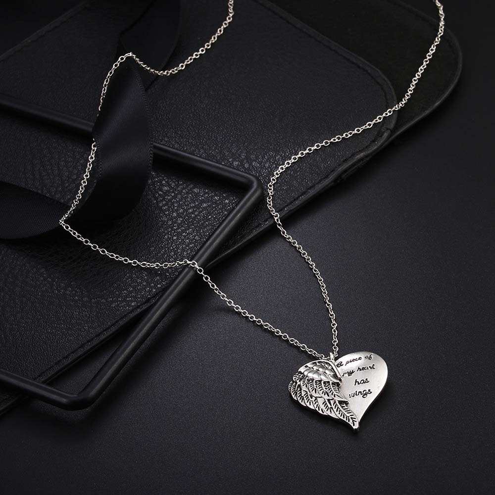 """A Piece of My Heart Has Wings"" Angel Necklace 3"