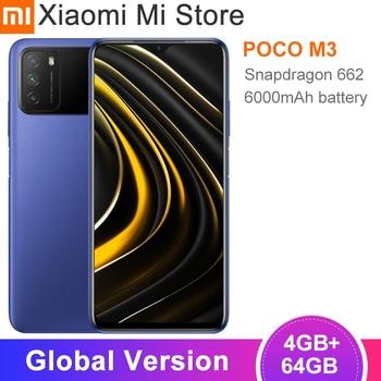 Глобальная версия Xiaomi POCO M3 Cellphon 4 Гб 64 Гб 6000 мАч Snapdragon 662 Octa Core 48MP камеры смартфона