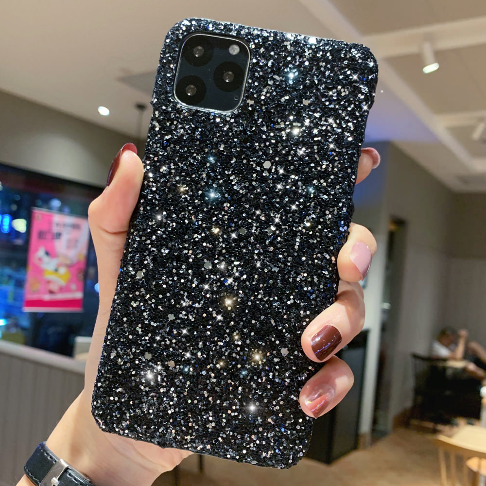 H3bf906cdaa2344deb3565371e371e509c - LAPOPNUT Luxury Sparkle Glitter Phone Case for IPhone 11 Pro XS X Xr Xs Max 8 7 6 6s Plus SE Christmas Sequins Slim Cover