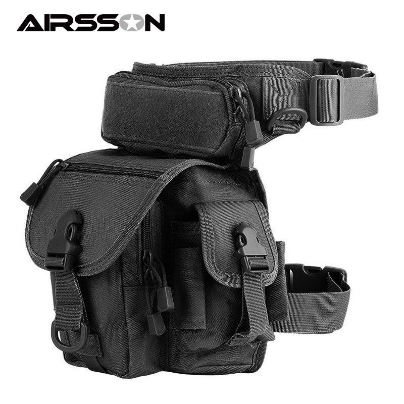 Molle bacak çantası askeri 1000D naylon su geçirmez erkek taktik bel paketi bacak seyahat bel çantası yürüyüş avcılık kamp bisiklet