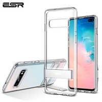 ESR étui pour téléphone d'affaires pour Samsung S10 e S10 S10 Plus avec Béquille En Métal Antichoc étui en polyuréthane thermoplastique étui pour Samsung S10 Plus Coque