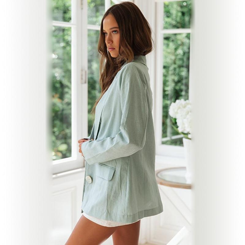 Blazer Women Rushed 2019 Europe And America Autumn Winter New Small Suit Jacket Women's Shirt Two Buckle Sleeve Feminino