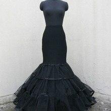 Petticoat Crinoline Underskirt Occasion-Dress Wedding-Hoops Mermaid-Bridal Black Slip