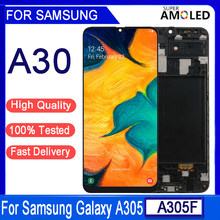 Original 6.4 amamoled lcd para samsung a30 display lcd para samsung a30 2019 a305 a305f a305fd lcd tela de toque digitador assembléia