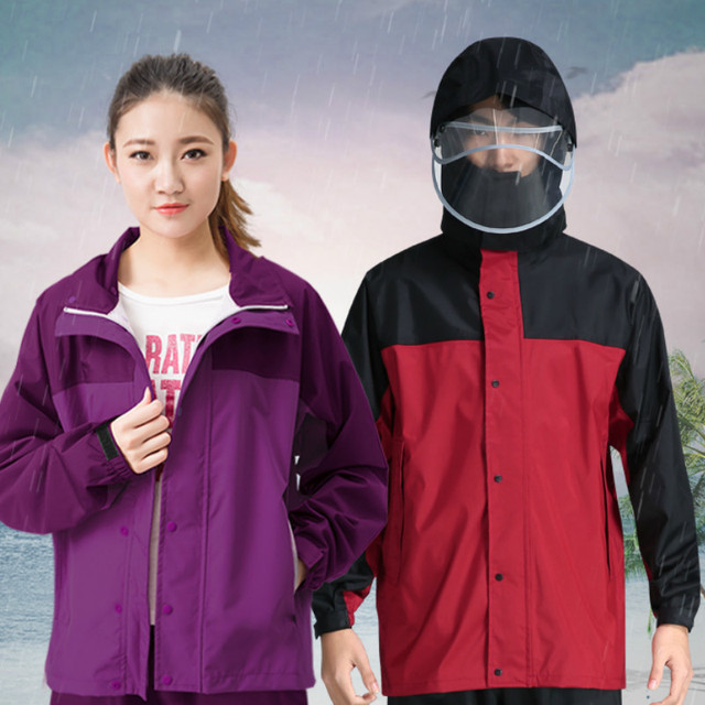 Thickened Nylon Motorcycle Raincoat Women Jackets Waterproof Male Rain Pants Rain Coat Men Poncho Split Rainwear Impermeable