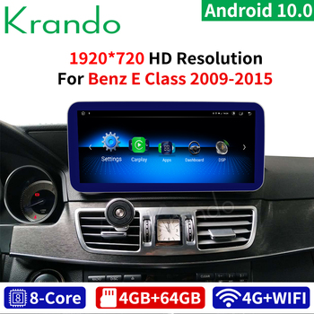 Krando 10.25'' Blue Ray Android 10 8 Core 4+64G Car GPS Navigation Multimedia Player for Mercedes Benz E Class W212 2009-2015 image