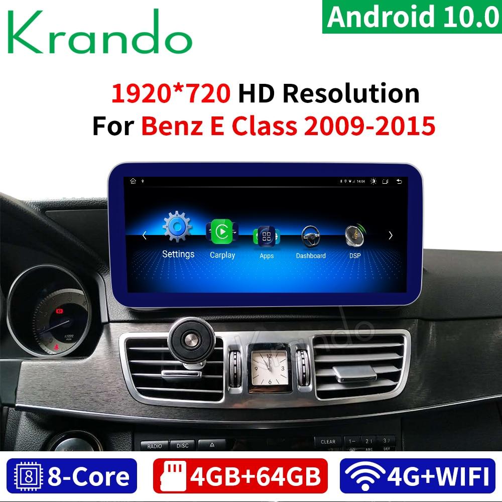 Krando Android 10 8 Core 4+64G Car Radio Audio GPS Navigation Multimedia Player For Mercedes Benz E Class W212 2009-2015