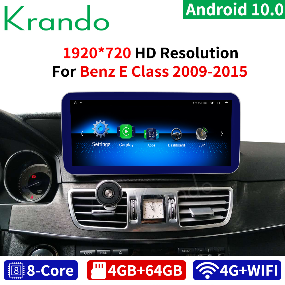 krando <font><b>Android</b></font> 10 8 Core 4+64G Car radio audio GPS <font><b>Navigation</b></font> Multimedia Player for Mercedes Benz E Class W212 2009-2015 image