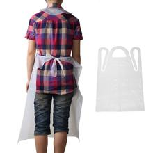 10 Plastic Adult Children Disposable Waterproof Dustproof Disposable Cooking Apron apron Transparent Painting N1F0