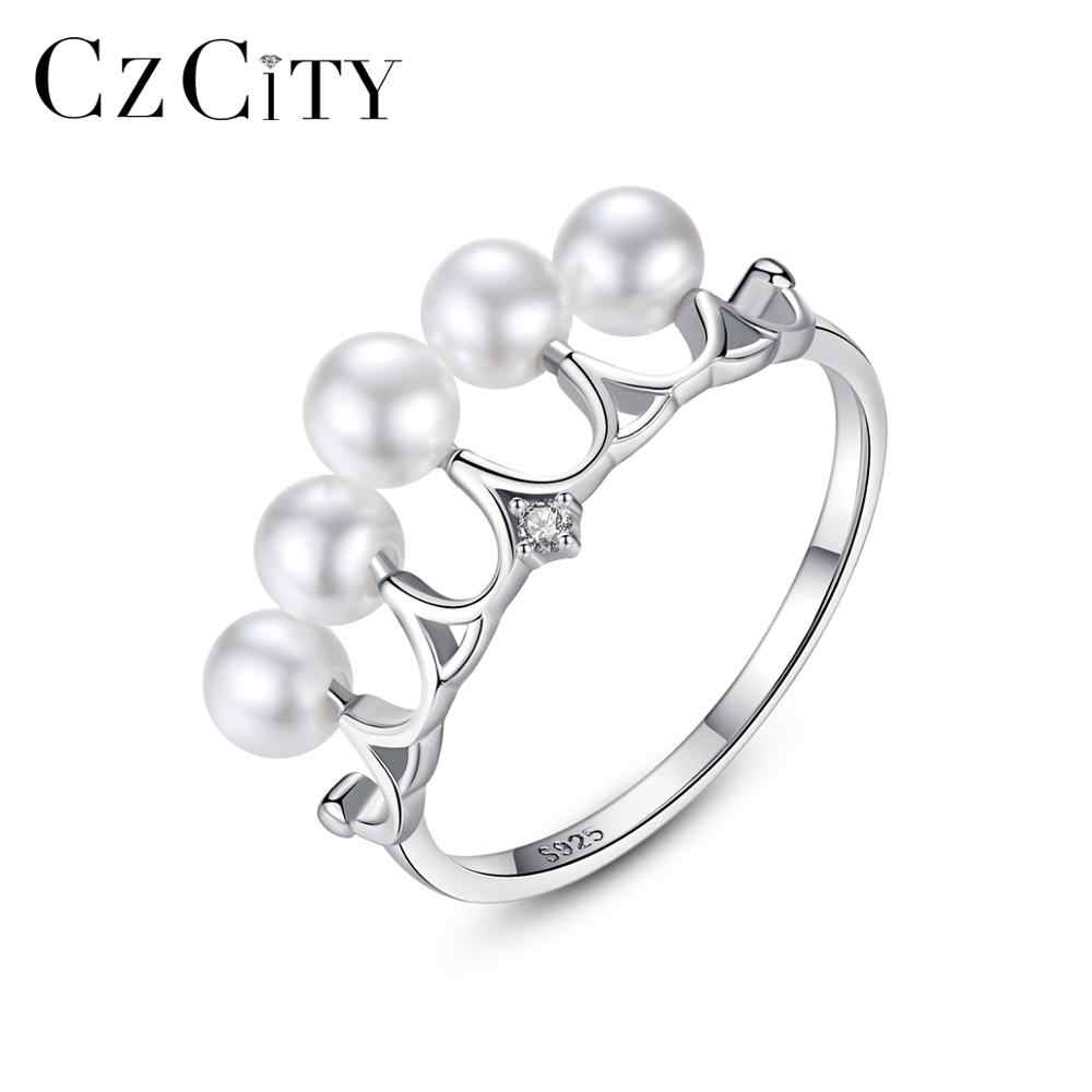 CZCITY LOVELY 925 Sterling Silver Crown แหวน