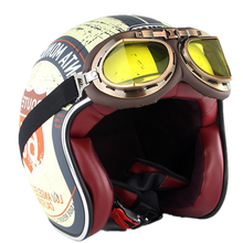 Novo retro capacete da motocicleta rosto aberto capacete de couro scooter capacetes 3/4 chopper casco moto vespa capacetes da motocicleta do vintage