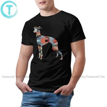 Italian Greyhound T Shirt Geo Pattern Silhouette T-Shirt Awesome 100 Percent Cotton Tee Man 4xl Tshirt