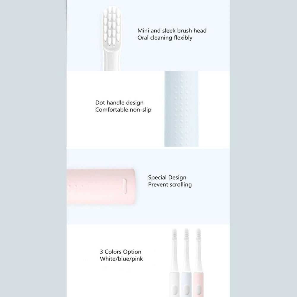 Original Xiaomi T100 Sonic Electric Toothbrush Adult Ultrasonic Automatic Toothbrush USB Rechargeable Waterproof Tooth Brush 46g