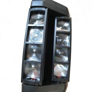 Image 3 - YaYao 8X3W Mini LED Luz De Araña DMX512 Iluminación Con Cabeza Giratoria RGBW Haz Club Disco Para Proyectora Dj Light